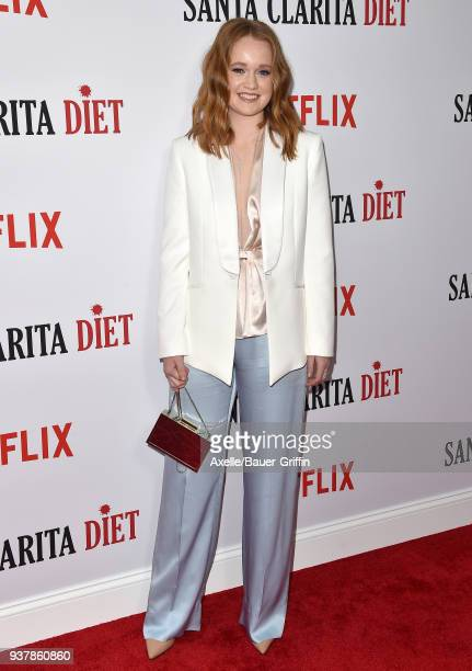 Actress Liv Hewson attends Netflix's 'Santa Clarita Diet' season 2 premiere at The Dome at Arclight Hollywood on March 22 2018 in Hollywood California