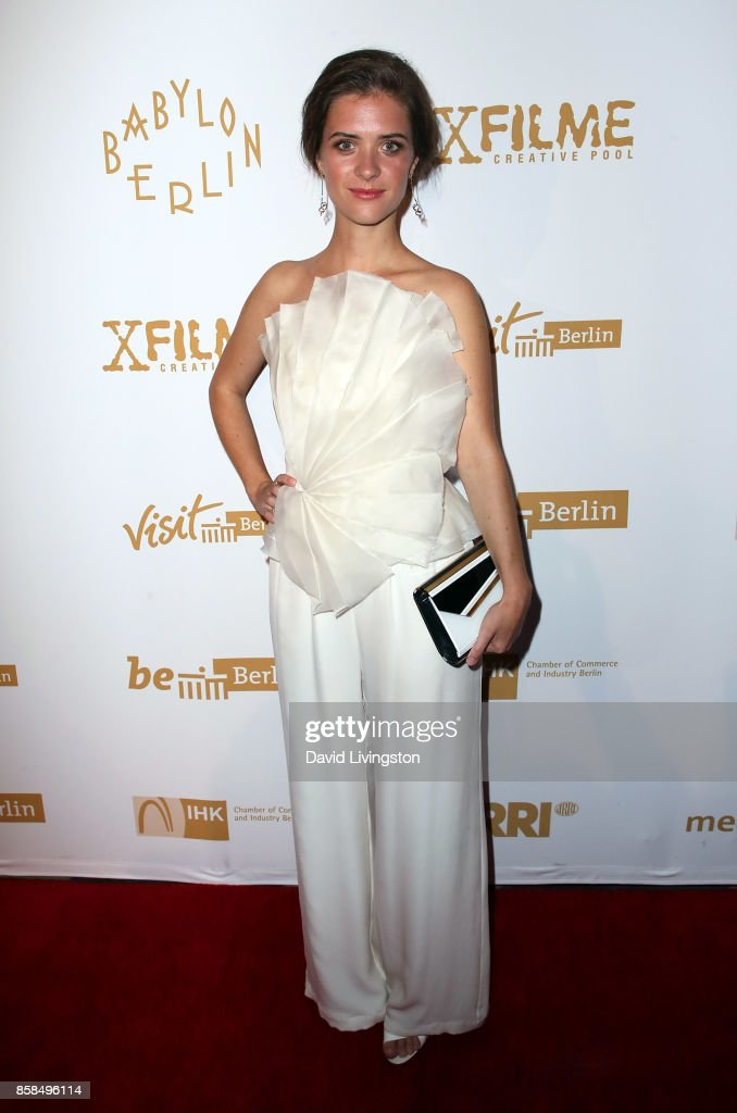 Actress Liv Lisa Fries attends the premiere of Beta Film's 'Babylon Berlin' at The Theatre at Ace Hotel on October 6, 2017 in Los Angeles, California.