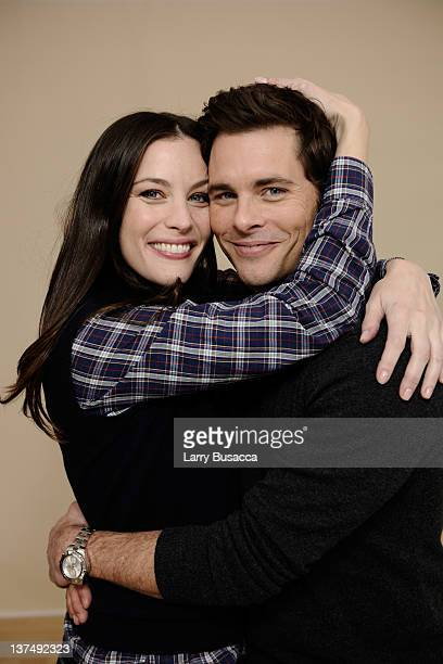 Actress Liv Tyler and actor James Marsden pose for a portrait during the 2012 Sundance Film Festival at the Getty Images Portrait Studio at TMobile...
