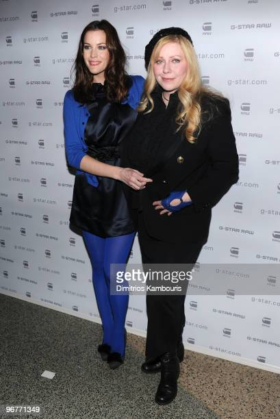 Actress Liv Tyler and Bebe Buell attend the GStar Raw Presents NY Raw Fall/Winter 2010 Collection at Hammerstein Ballroom on February 16 2010 in New...