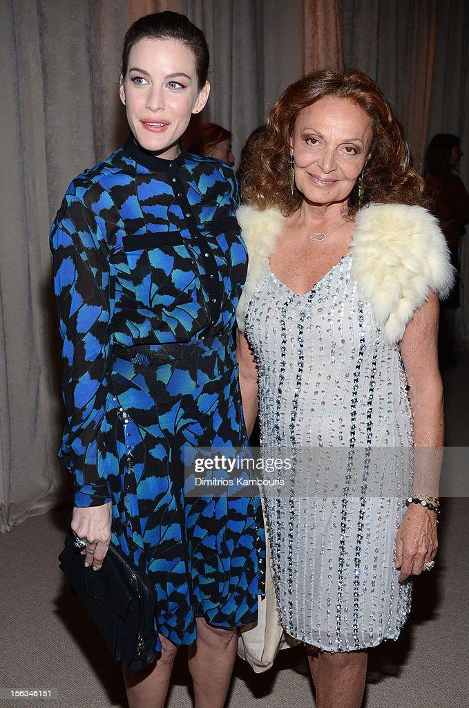 Actress Liv Tyler and designer Diane von Furstenberg attend The Ninth Annual CFDA/Vogue Fashion Fund Awards at 548 West 22nd Street on November 13, 2012 in New York City.