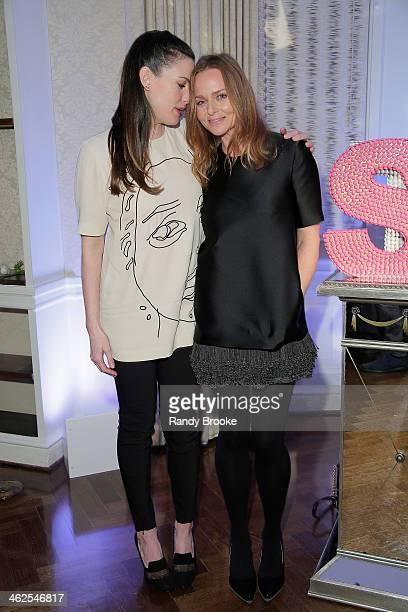 Actress Liv Tyler and Fashion Designer Stella McCartney attend the Stella McCartney Autumn 2014 presentation on January 13 2014 in New York City