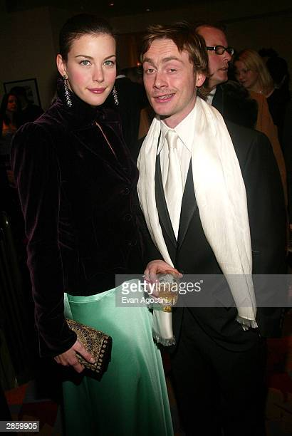 Actress Liv Tyler and husband Royston Langdon attend the 69th Annual New York Film Critics Circle Awards Dinner at Noche January 11 2004 in New York...