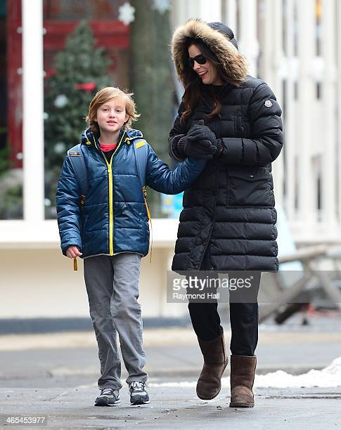 Actress Liv Tyler and Milo Langdon are seen in Soho on January 27 2014 in New York City