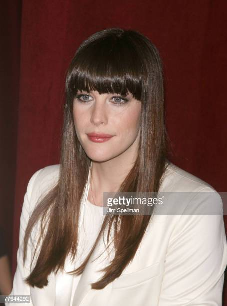 Actress Liv Tyler arrives at the 2007 7th on Sale Blacktie Gala Dinner at the 69th Regiment Armory on November 15 2007 in New York City
