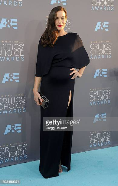Actress Liv Tyler arrives at the 21st Annual Critics' Choice Awards at Barker Hangar on January 17 2016 in Santa Monica California