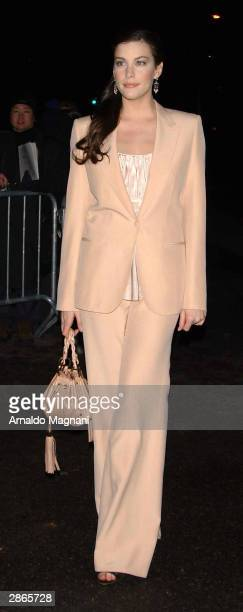 Actress Liv Tyler arrives at the National Board of Review Annual Awards Gala at Tavern On The Green January 13 2003 in New York City