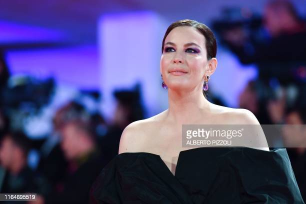 US actress Liv Tyler arrives on August 29 2019 for the screening of the film Ad Astra during the 76th Venice Film Festival at Venice Lido