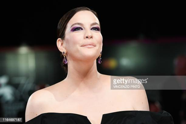 TOPSHOT US actress Liv Tyler arrives on August 29 2019 for the screening of the film Ad Astra during the 76th Venice Film Festival at Venice Lido