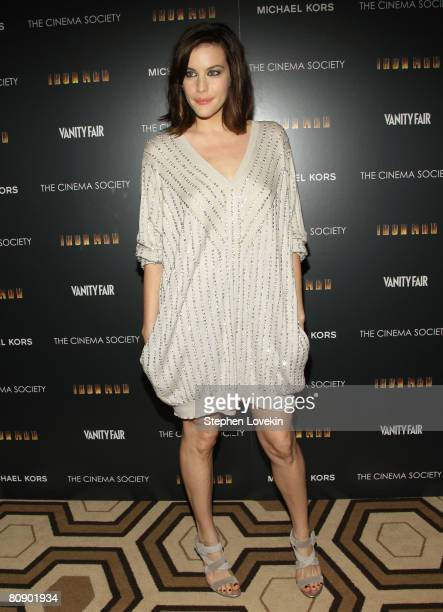 Actress Liv Tyler attends a screening of Iron Man hosted by the Cinema Society and Michael Kors at the Tribeca Grand Screening Room on April 28 2008...