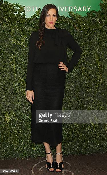 Actress Liv Tyler attends the 10th Anniversary Lunchbox Fund Benefit Event at Gabriel Kreuther on October 26 2015 in New York City