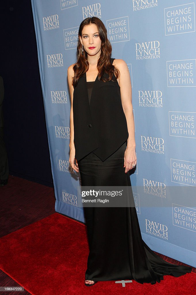 Actress Liv Tyler attends The David Lynch Foundation Hosts 'An Intimate Night Of Jazz' at Frederick P. Rose Hall, Jazz at Lincoln Center on December 13, 2012 in New York City.