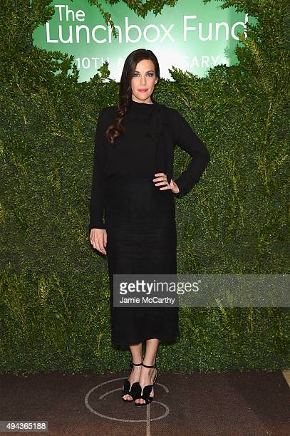 Actress Liv Tyler attends The Lunchbox Fund Tenth Anniversary Benefit Dinner and Auction at Gabriel Kreuther on October 26 2015 in New York City