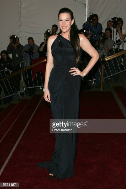 Actress Liv Tyler attends the Metropolitan Museum of Art Costume Institute Benefit Gala Anglomania at the Metropolitan Museum of Art May 1 2006 in...