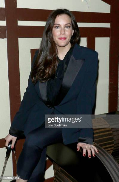 Actress Liv Tyler attends the screening after party for IFC Midnight's 'Wildling' hosted by The Cinema Society and Gemfields at Alley Cat Amateur...