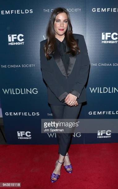 Actress Liv Tyler attends the screening of IFC Midnight's Wildling hosted by The Cinema Society and Gemfields at iPic Theater on April 8 2018 in New...