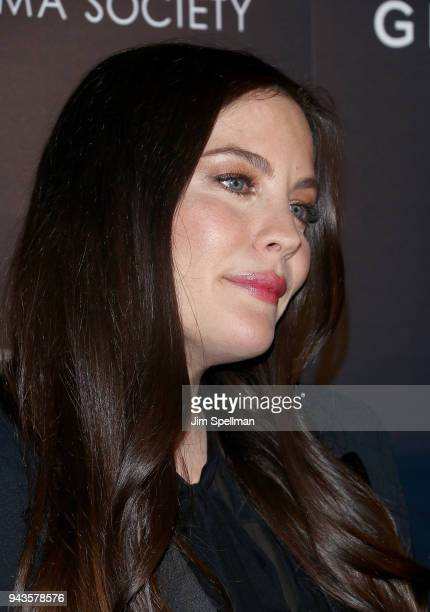 Actress Liv Tyler attends the screening of IFC Midnight's 'Wildling' hosted by The Cinema Society and Gemfields at iPic Theater on April 8 2018 in...