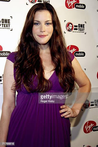 Actress Liv Tyler attends the Virgin Mobile VMA Post Party Hosted By CeeLo at Gotham Hall on August 31 2006 in New York New York