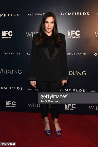 Actress Liv Tyler attends 'Wildling' New York Screening at iPic Theater on April 8 2018 in New York City