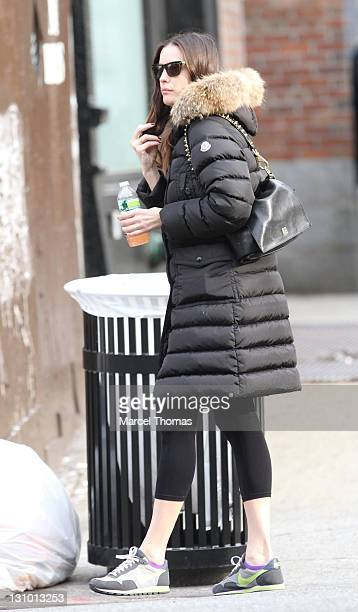 Actress Liv Tyler is seen on the streets of Manhattan on October 31 2011 in New York City