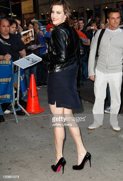 Actress Liv Tyler visits Late Show with David Letterman at Ed Sullivan Theater on May 19 2008 in New York City