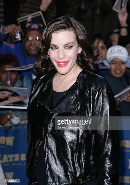 cf69c26ccbd2 Actress Liv Tyler visits Late Show with David Letterman at Ed Sullivan  Theater on May 19