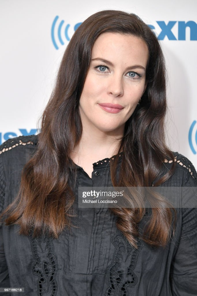 Actress Liv Tyler visits SiriusXM Studios on July 12, 2018 in New York City.