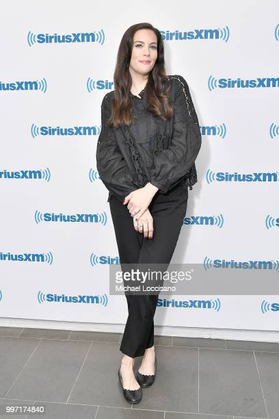 Actress Liv Tyler visits SiriusXM Studios on July 12 2018 in New York City