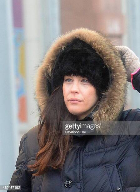 Actress Liv Tyler walks through the snow in SoHo on January 29 2015 in New York City
