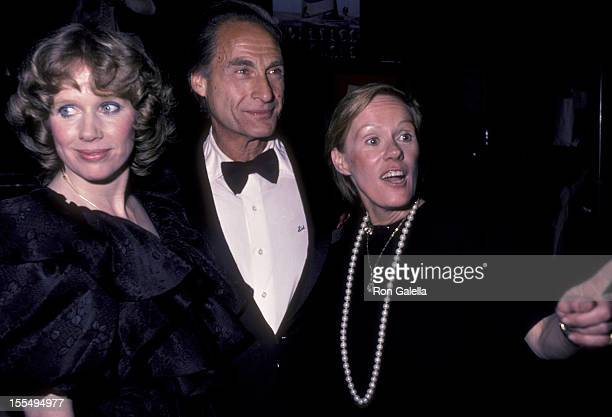 Actress Liv Ullman actor Sid Caesar and wife Florence Caesar attend Legends and Show Stoppers Benefit on April 29 1984 at the Shubert Theater in New...