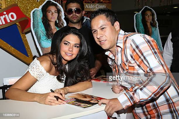 Actress Livia Brito signs copies of H para Hombres magazine at Galerias Plaza de las Estrellas on October 10 2012 in Mexico City Mexico