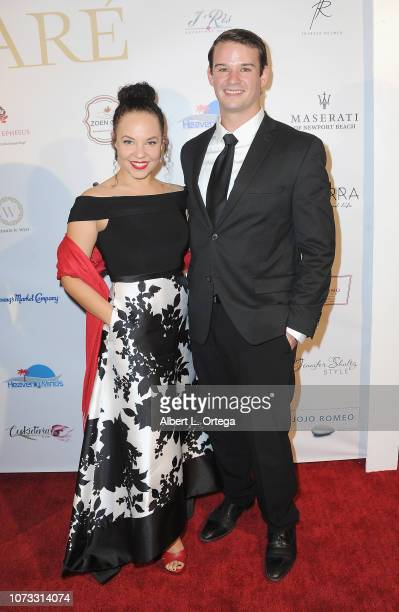 Actress Liz B Williams and actor Logan La Cross attend the Amare's Second Year Anniversary 'Believe Issue' Party held at Sofitel Los Angeles At...