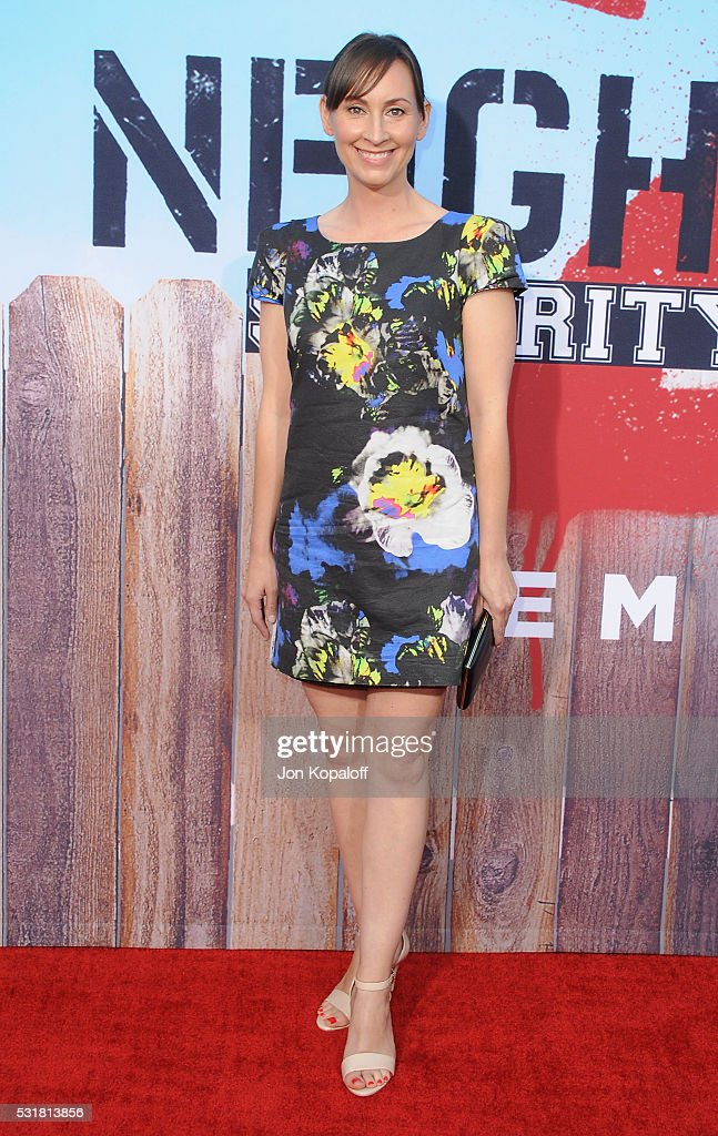 Actress Liz Cackowski arrives at the Los Angeles Premiere 'Neighbors 2: Sorority Rising' at Regency Village Theatre on May 16, 2016 in Los Angeles, California.