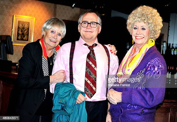 Actress Liz Dawn attends a photo call for new waxworks of Coronation Street's Jack and Vera Duckworth unveiled at Madame Tussauds Blackpool on March...