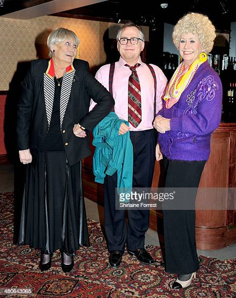 Actress Liz Dawn attends photo call as new waxworks of Coronation Street's Jack and Vera Duckworth are unveiled at Madame Tussauds Blackpool on March...