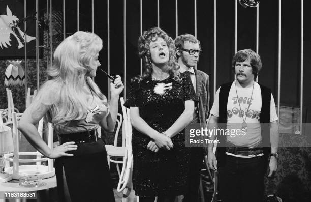 Actress Liz Fraser and comedians Tim BrookeTaylor Graeme Garden and Bill Oddie in a sketch from episode 'Caught in the Act' of the BBC television...