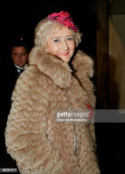 Actress Liz Fraser arrives at the Water Rats Annual Ball the showbiz charity ball raising funds for the GOWR Charities Fund at Grosvenor House on...