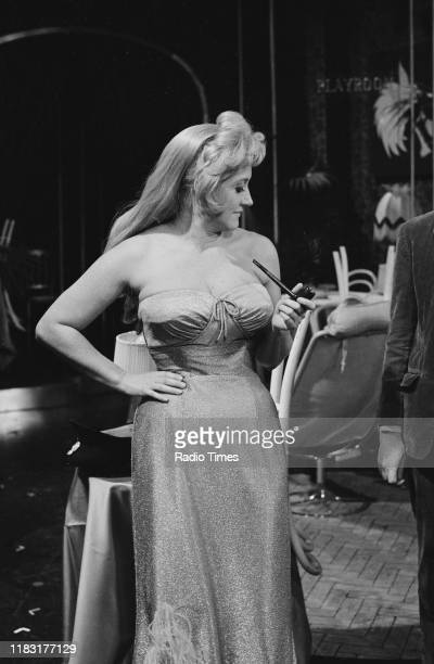 Actress Liz Fraser in a sketch from episode 'Caught in the Act' of the BBC television series 'The Goodies' 1970