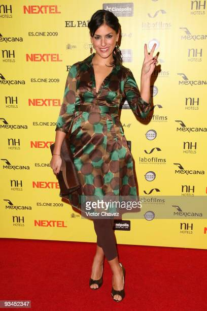 Actress Liz Gallardo attends the Muestra de Cine Español EsCine 2nd Edition by Nextel at Cinepolis Diana on November 26 2009 in Mexico City Mexico