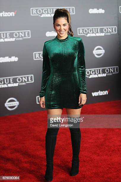 Actress Liz Hernandez arrives at the premiere of Walt Disney Pictures and Lucasfilm's 'Rogue One A Star Wars Story' at the Pantages Theatre on...