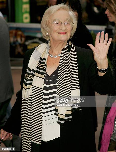 Actress Liz Smith arrives at the UK charity premiere of the animated film 'Wallace Gromit The Curse Of The WereRabbit' at the Odeon West End October...