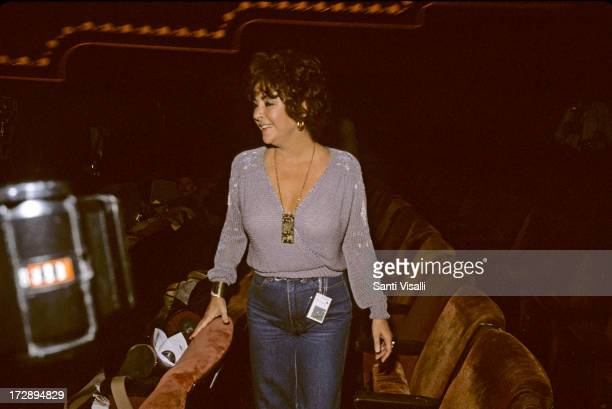 Actress Liz Taylor in a Theatre on September 241982 in New York New York