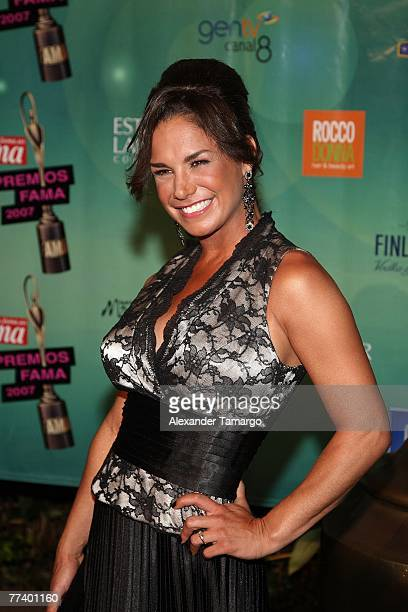 Actress Liz Vega arrives at the Fama Awards on October 17 2007 in Miami Beach Florida