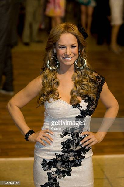 Actress Liz vega poses during the shooting of the last chapter of Zacatillo soap opera on July 23 2010 in Mexico City Mexico