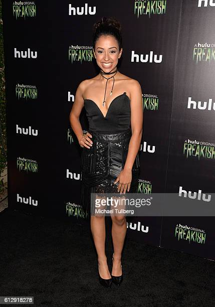 Actress Liza Koshy attends the premiere of Hulu's 'Freakish' at Smogshoppe on October 5 2016 in Los Angeles California