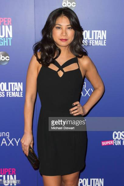 Actress Liza Lapira attends Cosmopolitan's Super Fun Night With Rebel Wilson And Joanna Coles at Hearst Tower on October 1 2013 in New York City