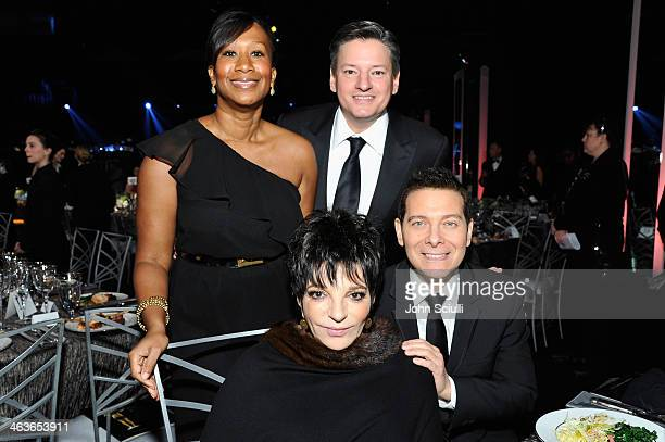 Actress Liza Minnell and pianist Michael Feinstein and guests attend the 20th Annual Screen Actors Guild Awards at The Shrine Auditorium on January...