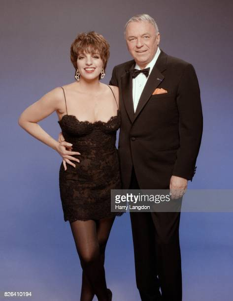 Actress Liza Minnelli and Frank Sinatra pose for a portrait in 1988 in Los Angeles California