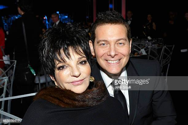 Actress Liza Minnelli and pianist Michael Feinstein attend the 20th Annual Screen Actors Guild Awards at The Shrine Auditorium on January 18, 2014 in...