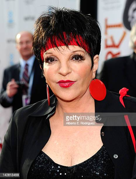 Actress Liza Minnelli arrives at the TCM Classic Film Festival opening night premiere of the 40th anniversary restoration of 'Cabaret' at Grauman's...